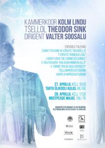 Kontsert: Kammerkoor Kolm Lindu, Valter Soosalu, Theodor Sink @ Tartu ülikooli aula