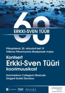 Erkki-Sven Tüür 60 @ Tallinna Filharmoonia Mustpeade Maja