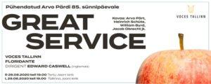 Great Service / pühendatud Arvo Pärdi 85. sünnipäevale @ Tartu Jaani kirik